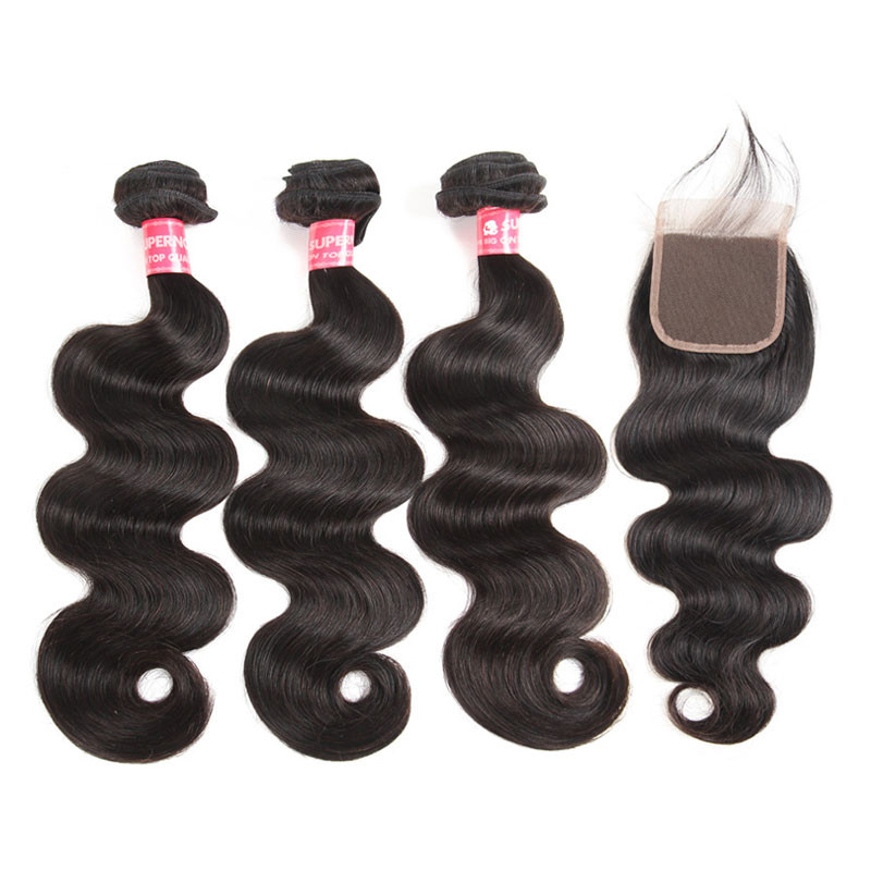 peruvian virgin hair body wave human hair bundles with