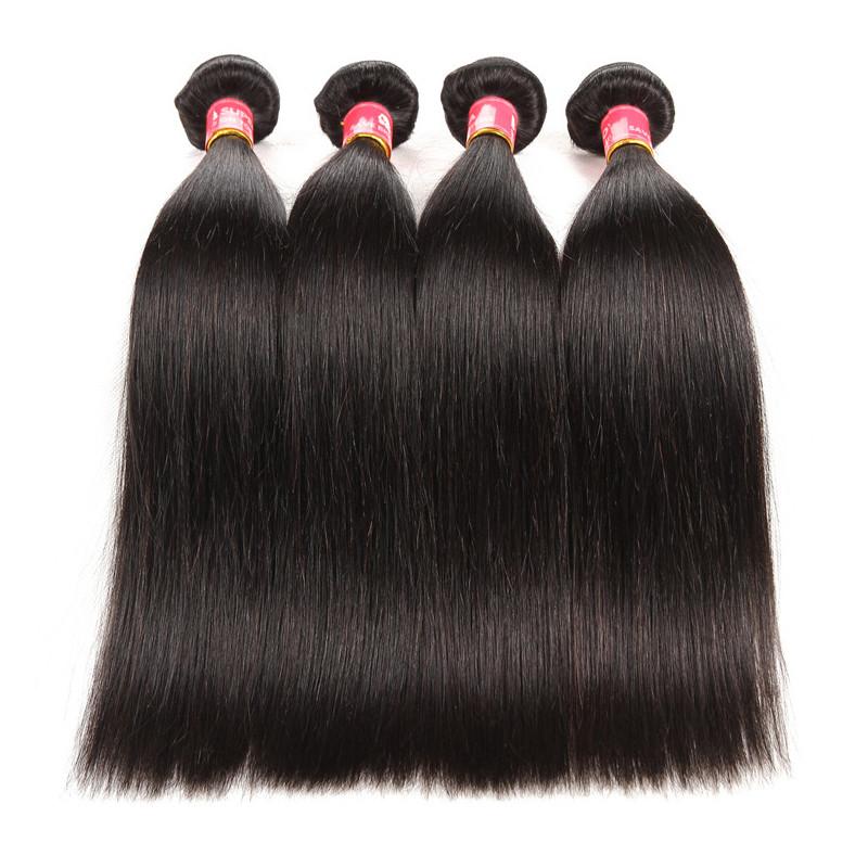 Peruvian Straight Virgin Human Hair Weaves Hairstyles Supernova Hair