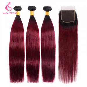 Straight Ombre Hair 3 Bundles
