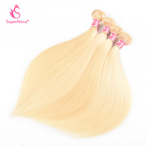 Lightest Blonde 613# Brazilian Honey Blonde Straight Colored Weave