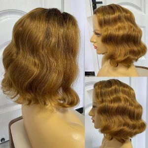blunt cut bob wig human hair