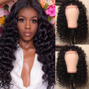 loose deep lace closure wigs