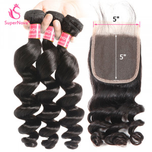Loose Wave Hair Bundles With Closure
