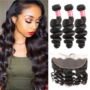 Loose Wave Hair Bundles with frontal