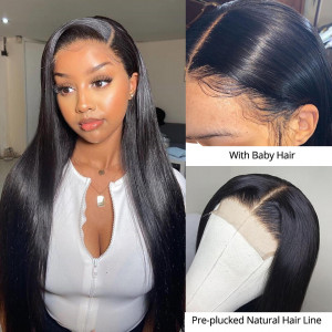 Straight  Lace Closure Wig