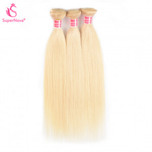 Color 613 Hair Weave Blonde Brazilian Straight Virgin Brazilian Hair