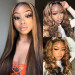 Honey Blonde Highlight Wigs Straight And Body Wave Lace Front Wigs Pre Plucked