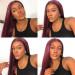 Burgundy 99J Hair Wigs