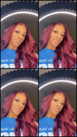 Super soft wig , a more berry look instead of