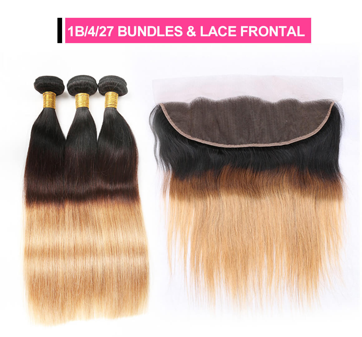 ombre hair bundles with frontal