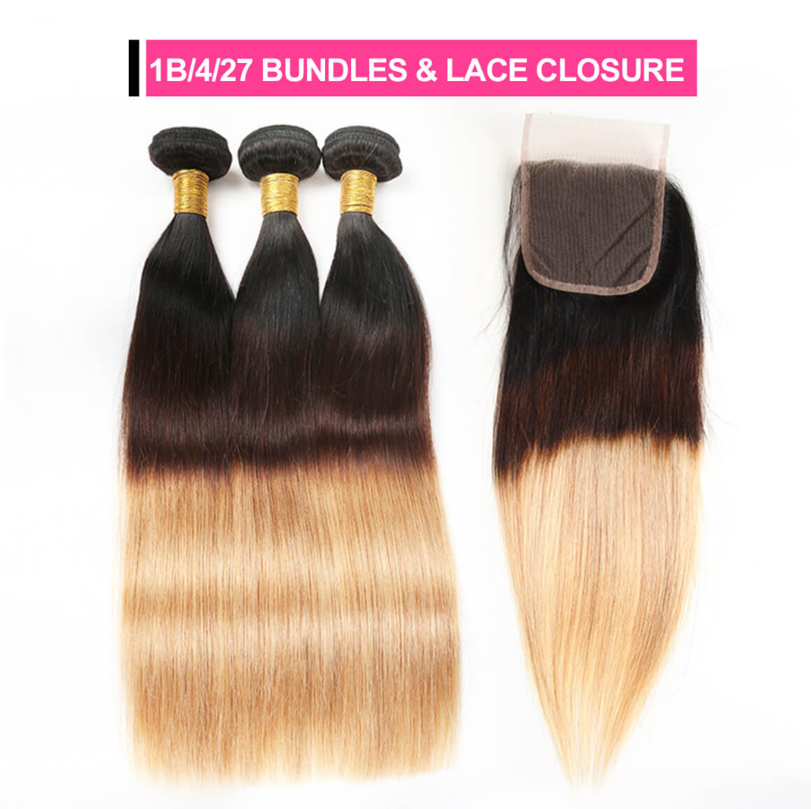 ombre hair bundles with closure