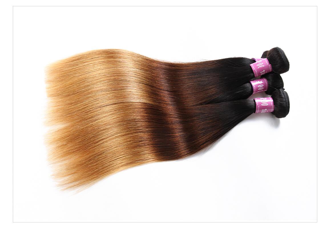 ombre blonde hair bundles