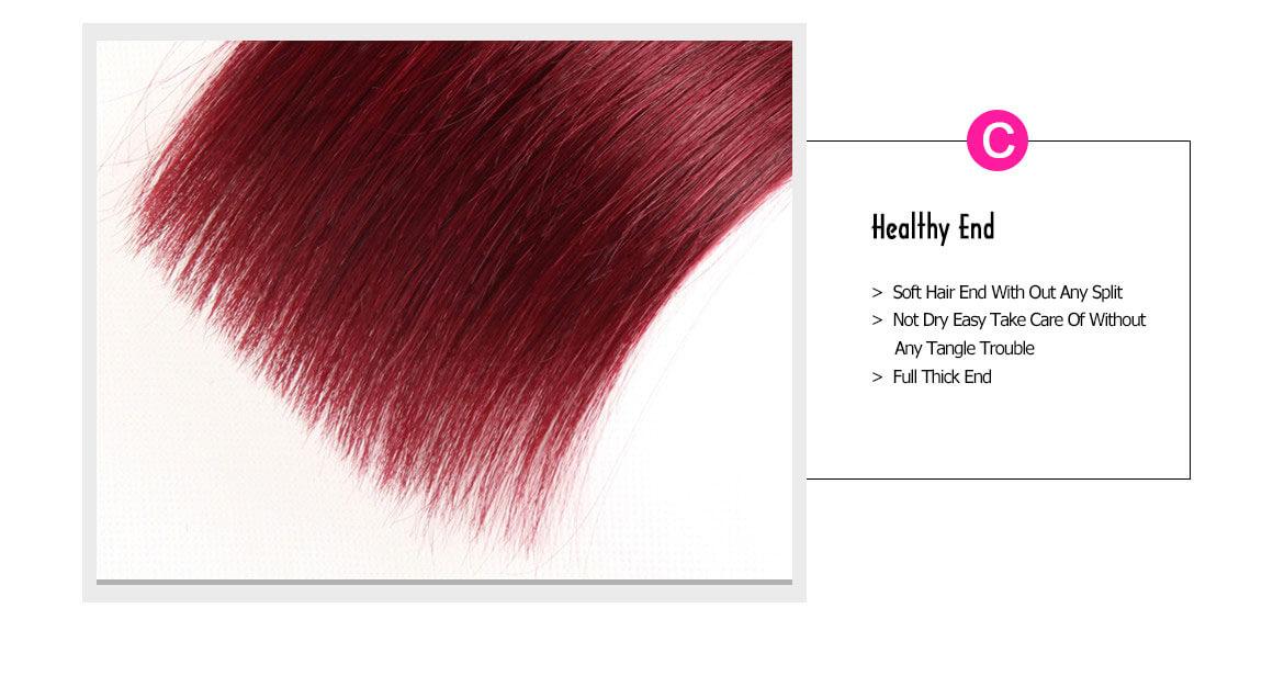 burgundy weave bundles