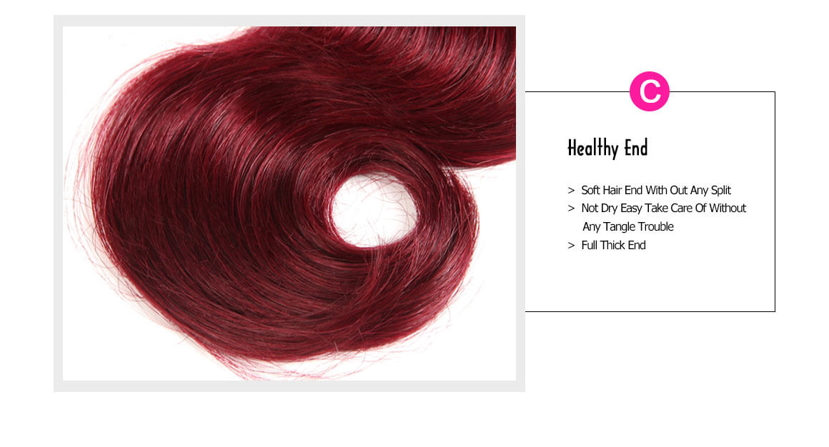 burgundy hair bundles