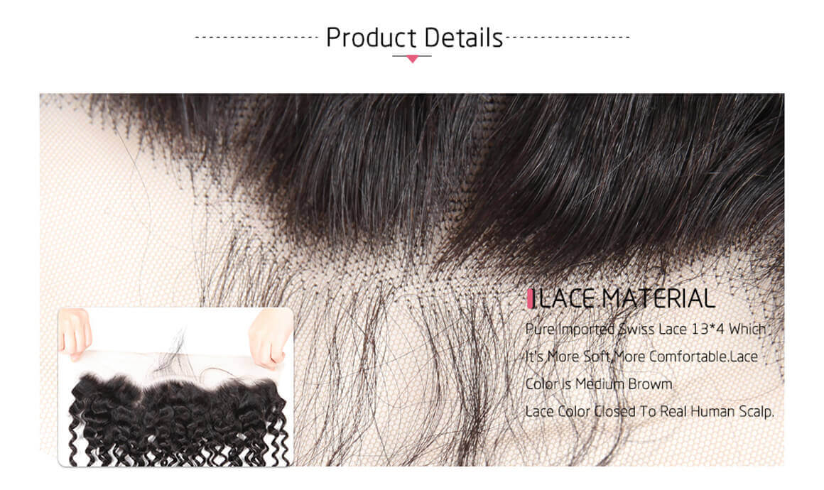 human hair bundles with lace frontal