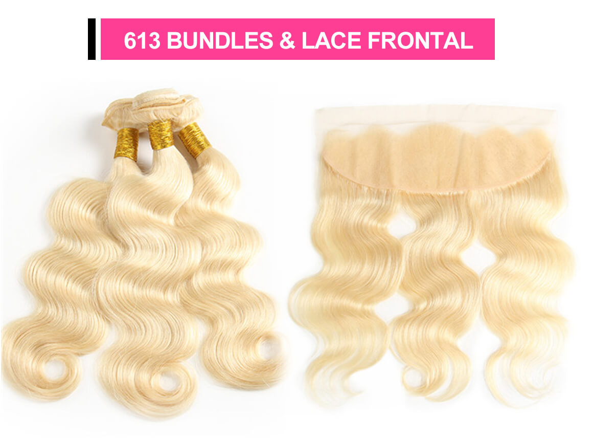 blonde 360 lace frontal with bundles