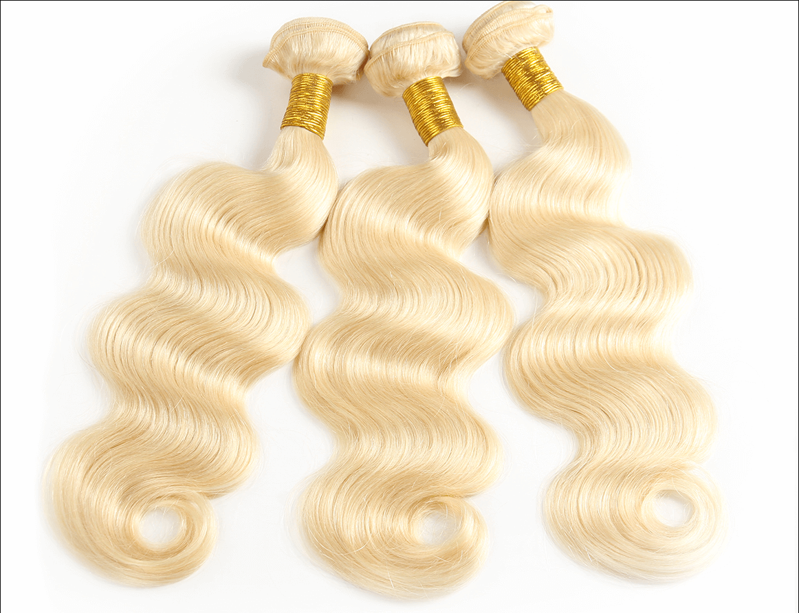 honey blonde bundles with closure
