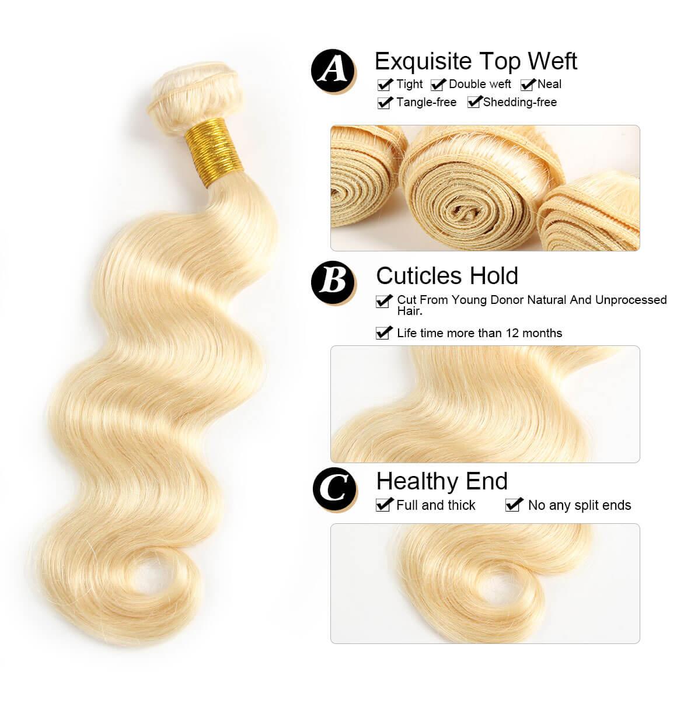 honey blonde bundles with closure