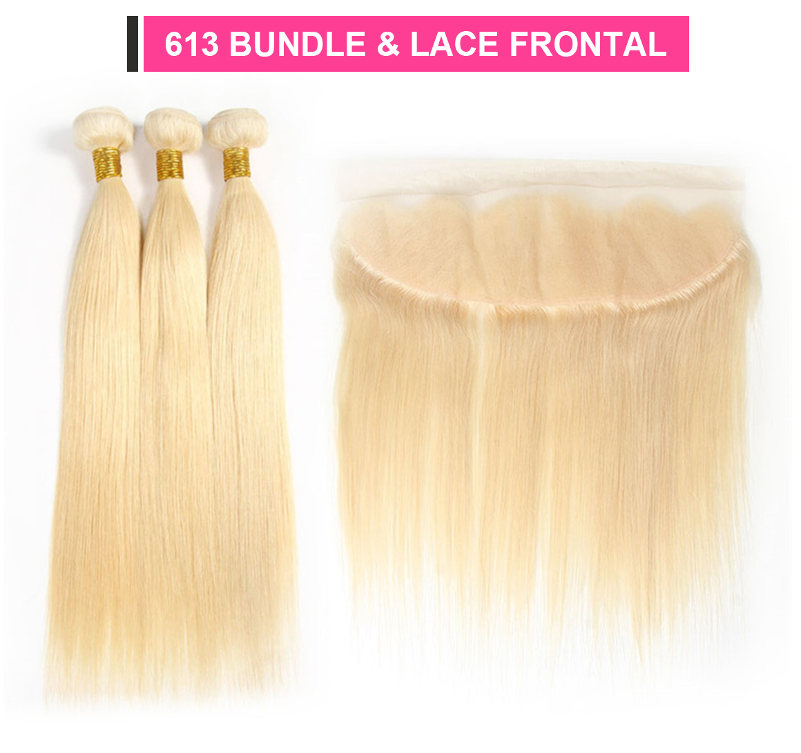 blonde bundles with frontal