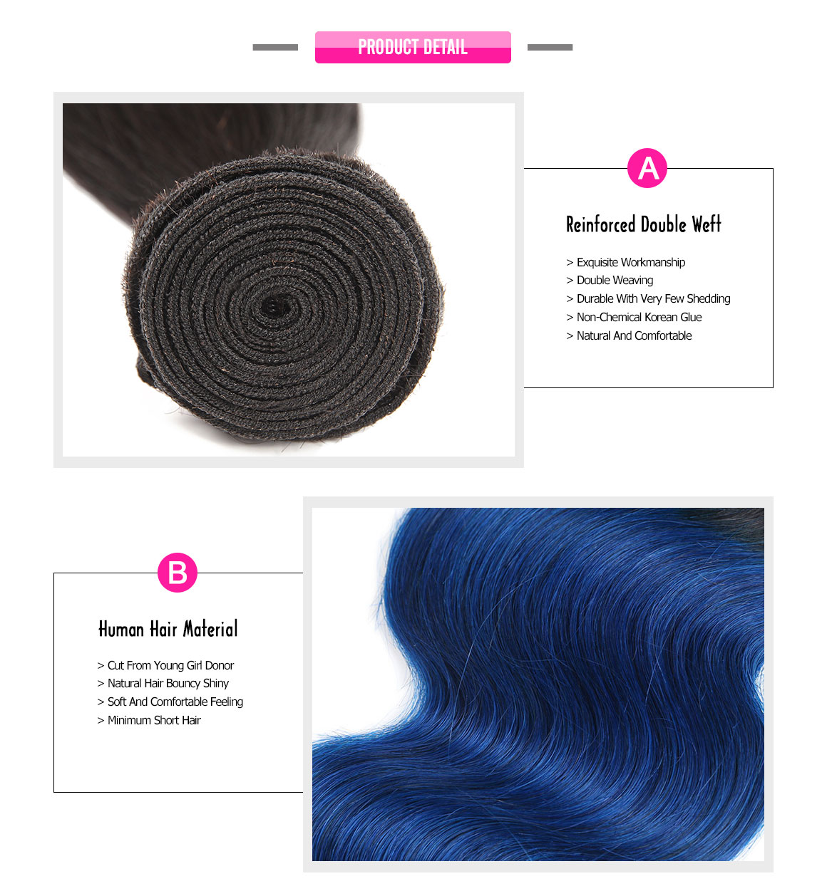 ombre human hair bundles