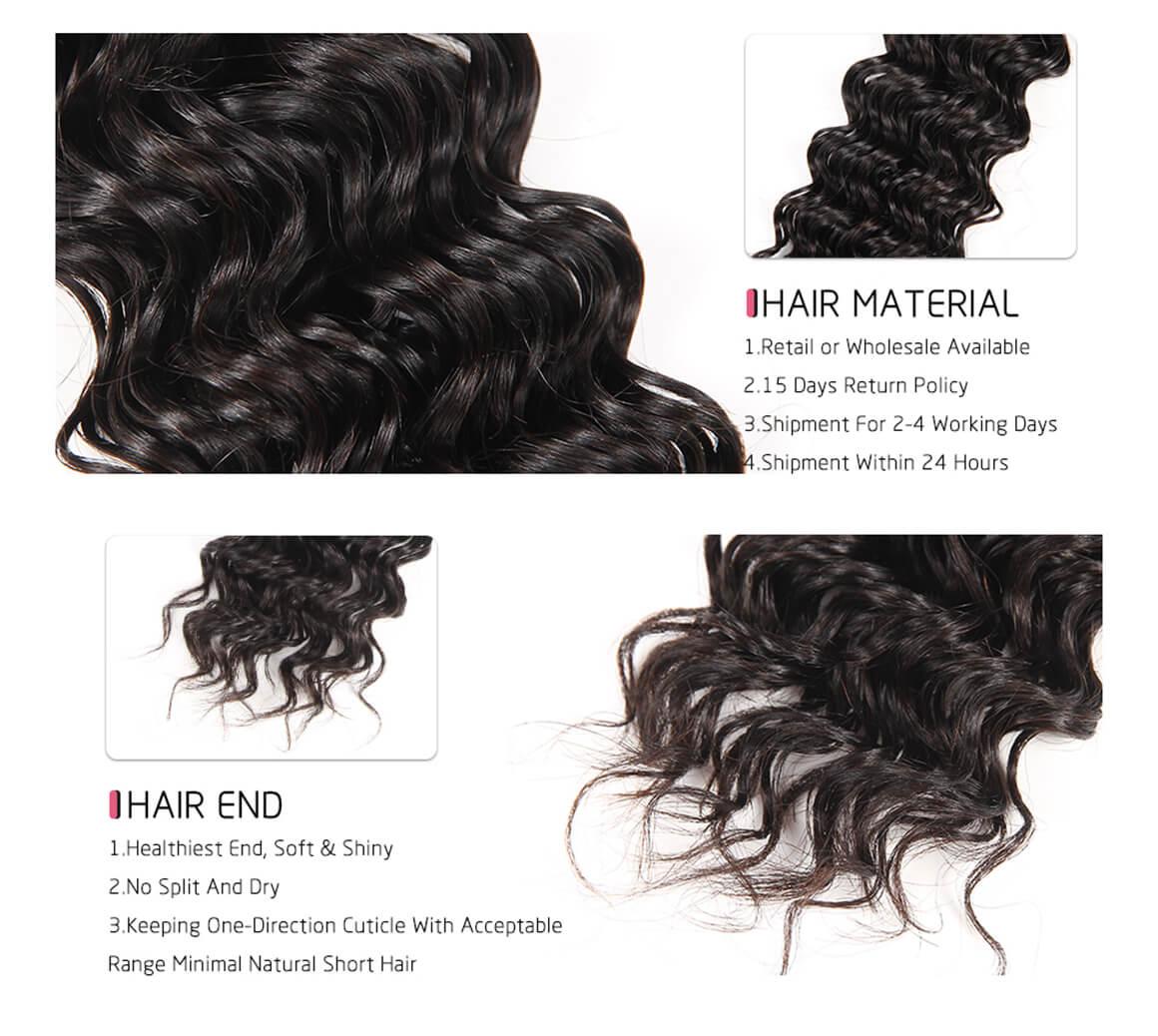 100 human hair bundles