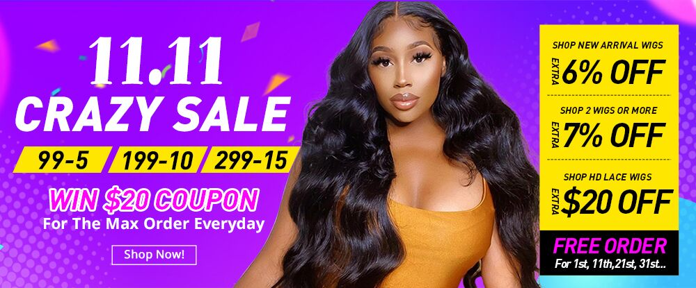 11.11 Crazy Sale in SuperNova Hair