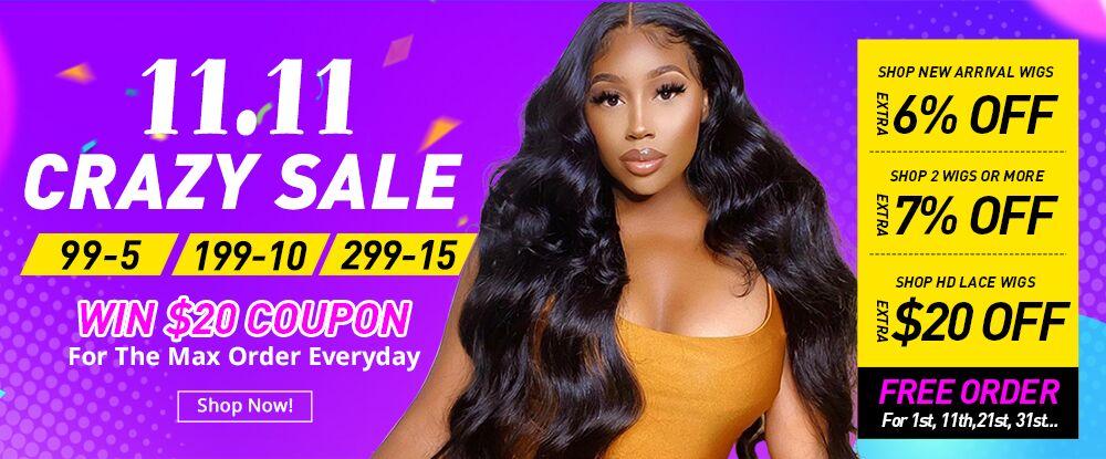 11.11 Crazy Sale in SuperNova Hair