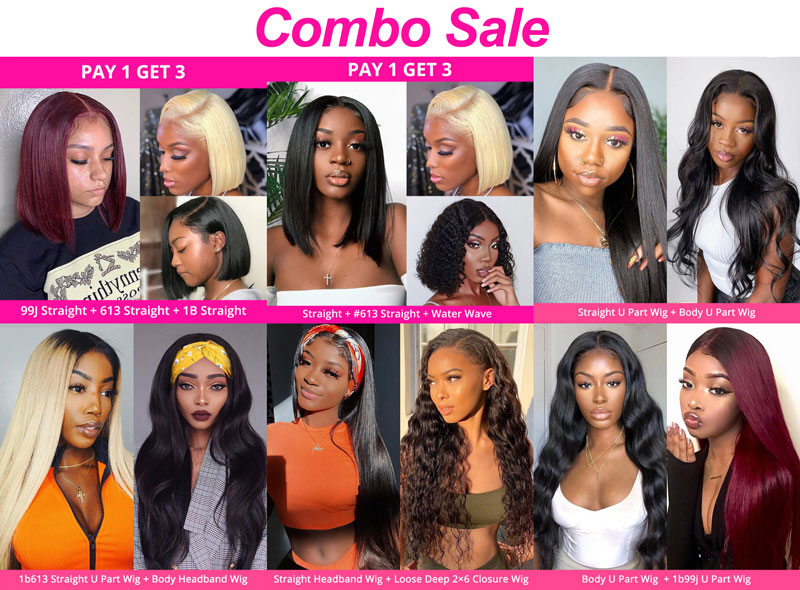 Combo Sale: Pay One Get 2-3 Wigs