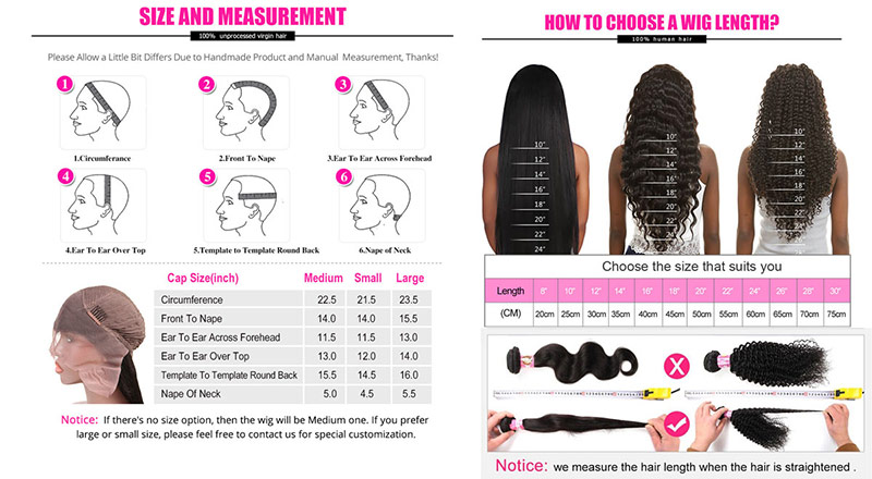 How to measure the capsize and how to choose a wig length