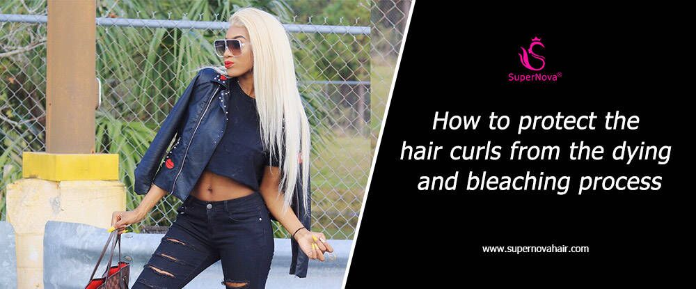 How to protect the hair curls from the dying and bleaching process
