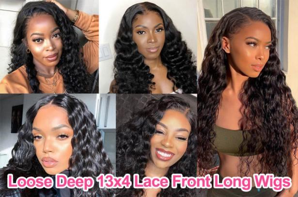 Loose Deep 13x4 Lace Front Long Wigs