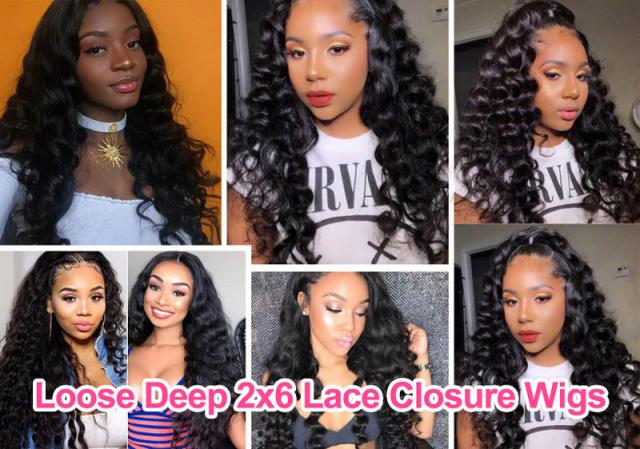 Loose Deep 2x6 Lace Closure Wigs