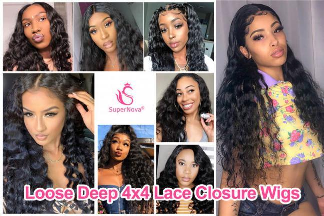 Loose Deep 4x4 Lace Closure Wigs