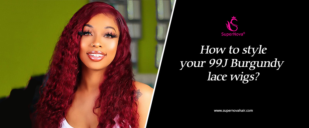 How To Style Your 99J Burgundy Lace Wigs?