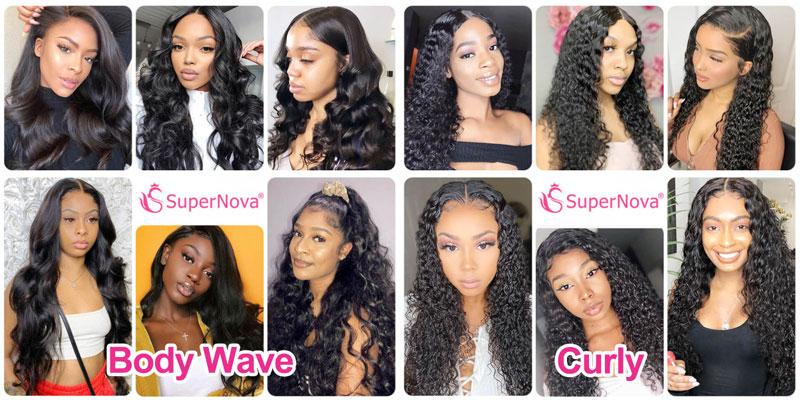 Natural Color 13x4 Lace Front Wigs