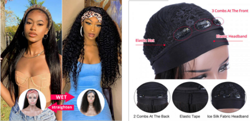 What is the difference between lace frontal wigs and headband wigs