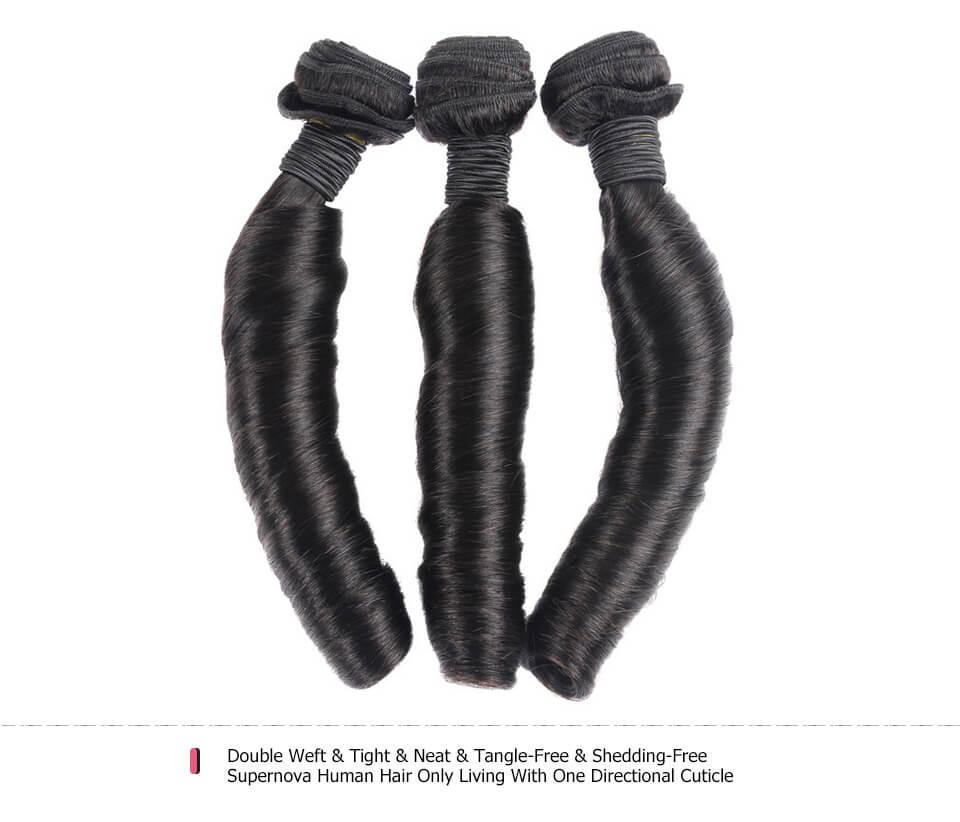 Aunty Funmi Curly Virgin Human Hair Weave Natural 3 Bundles
