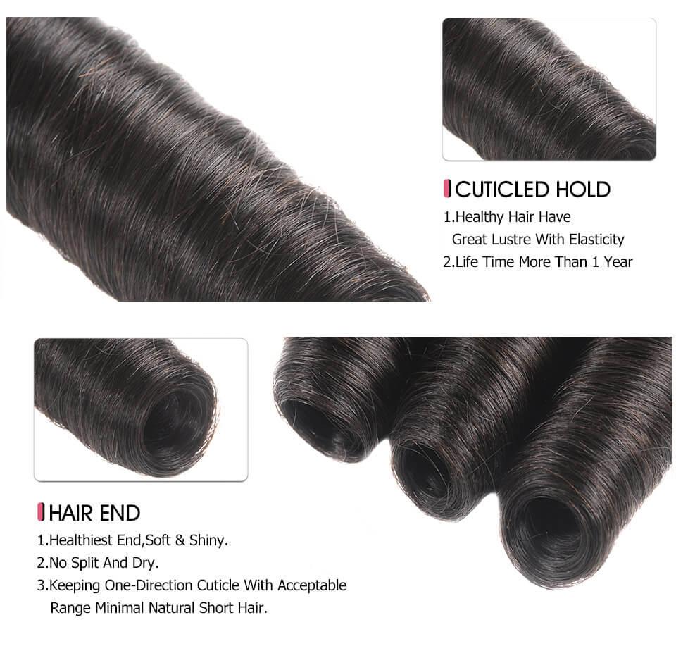 Funmi Hair Weave Fumi Curls Virgin Loose Wave 4 Bundles