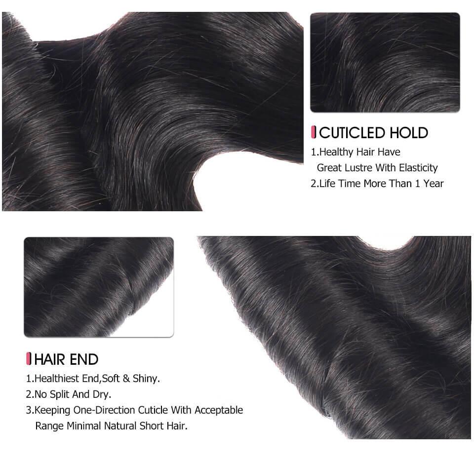 Funmi Hair 3 Bundles Loose Wave Egg Curl Color Human Hair