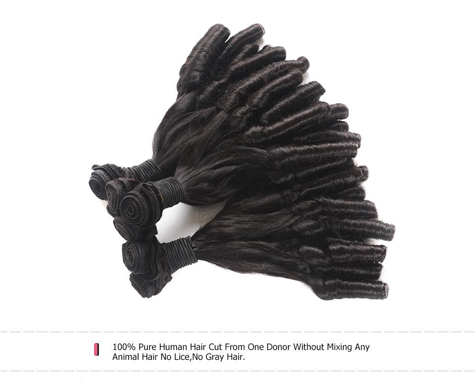 Aunty 4 Bundles Fumi Curls Virgin Human Hair Weave