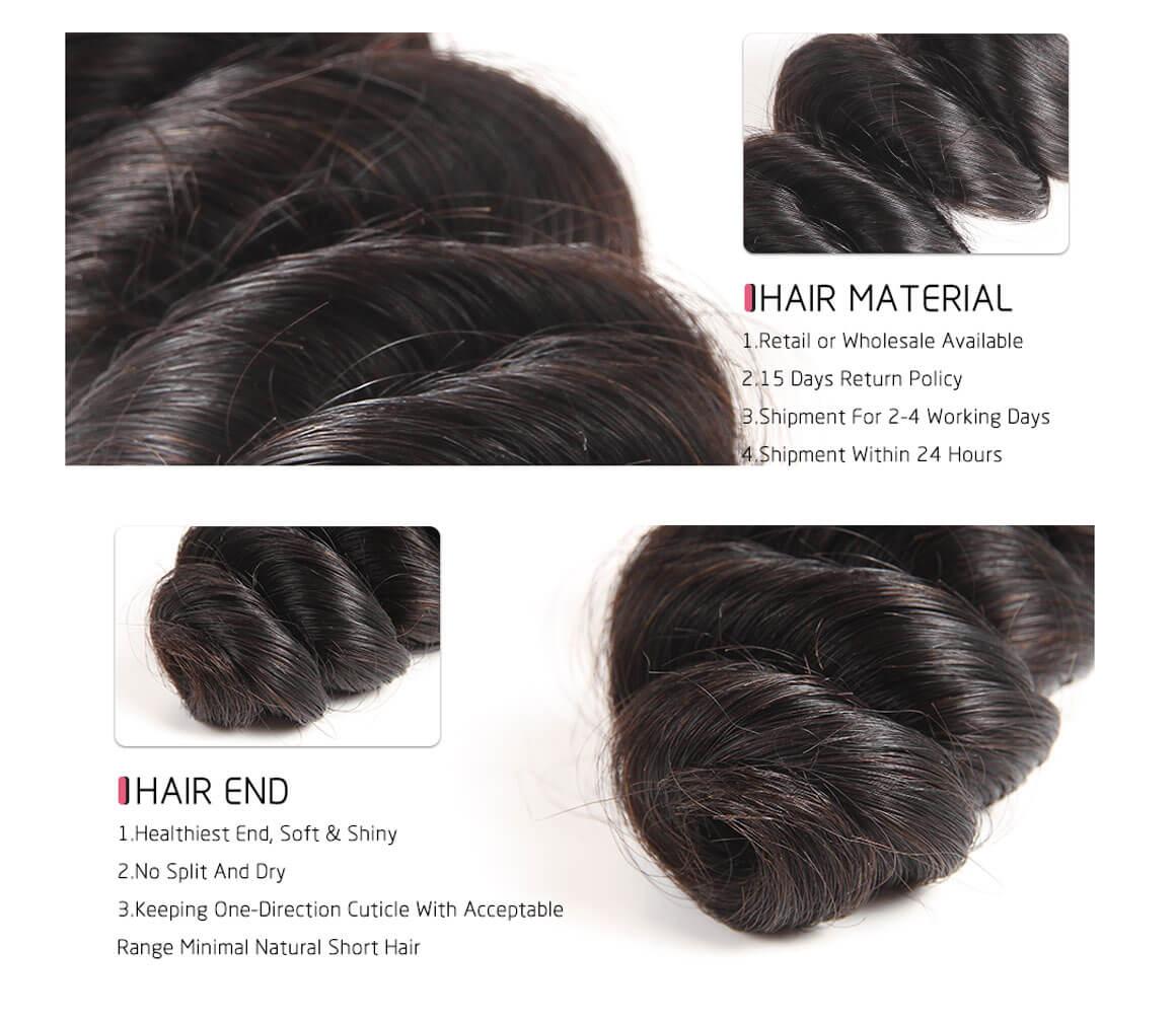 3 bundles human hair