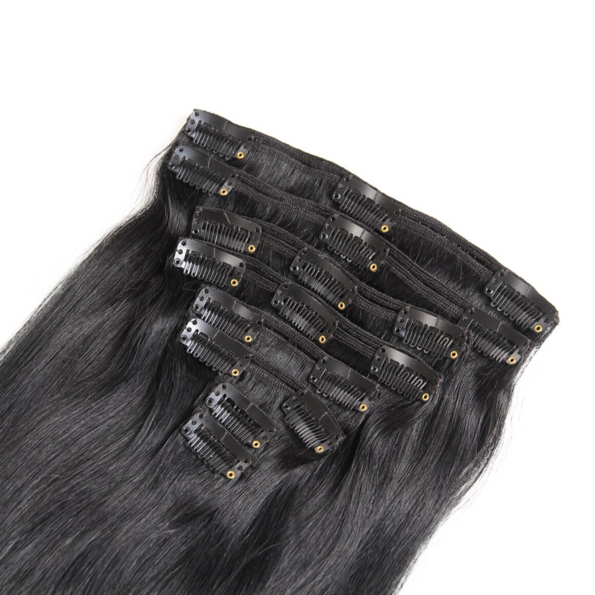 Dark Clip In Human Hair Extensions Clip In Extensions