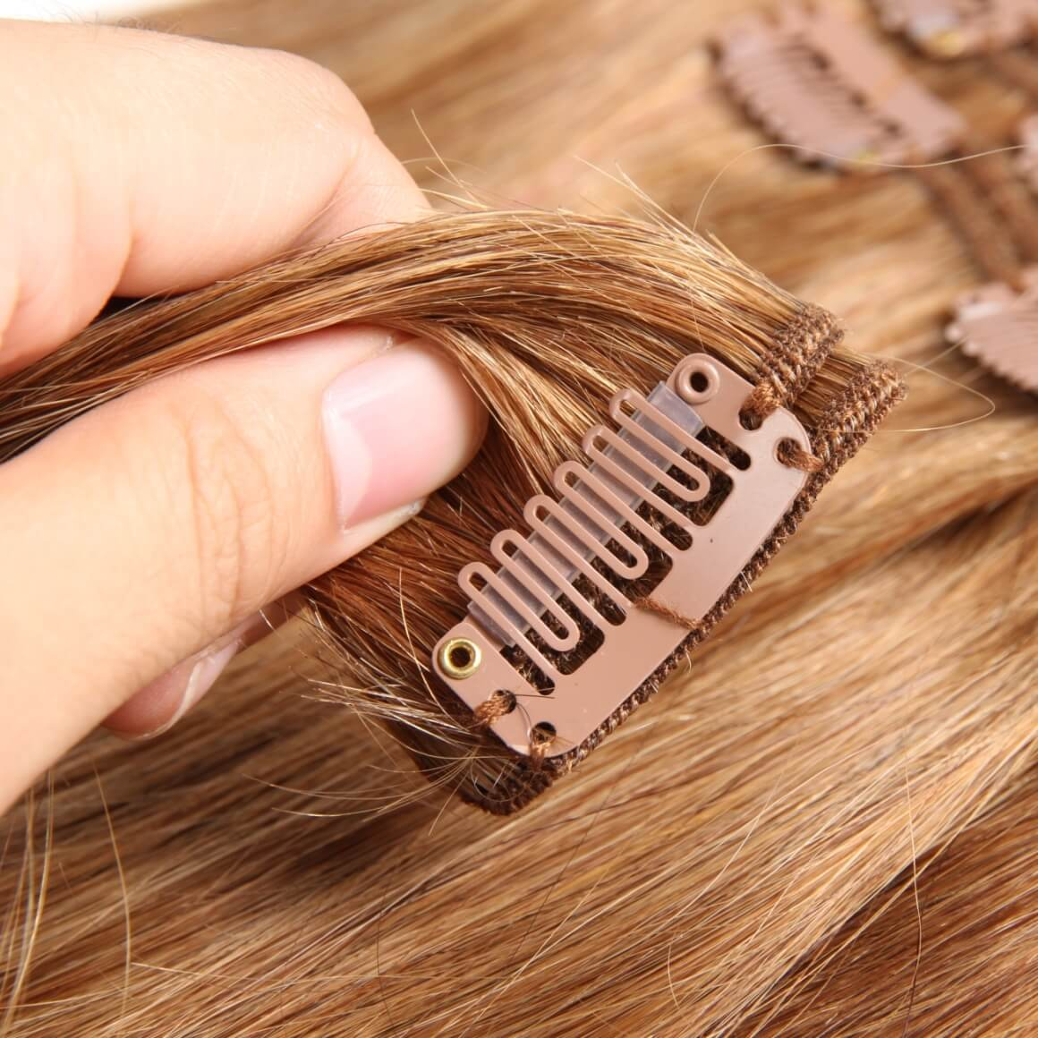 Dark Color Hair Extensions Clip In Extensions