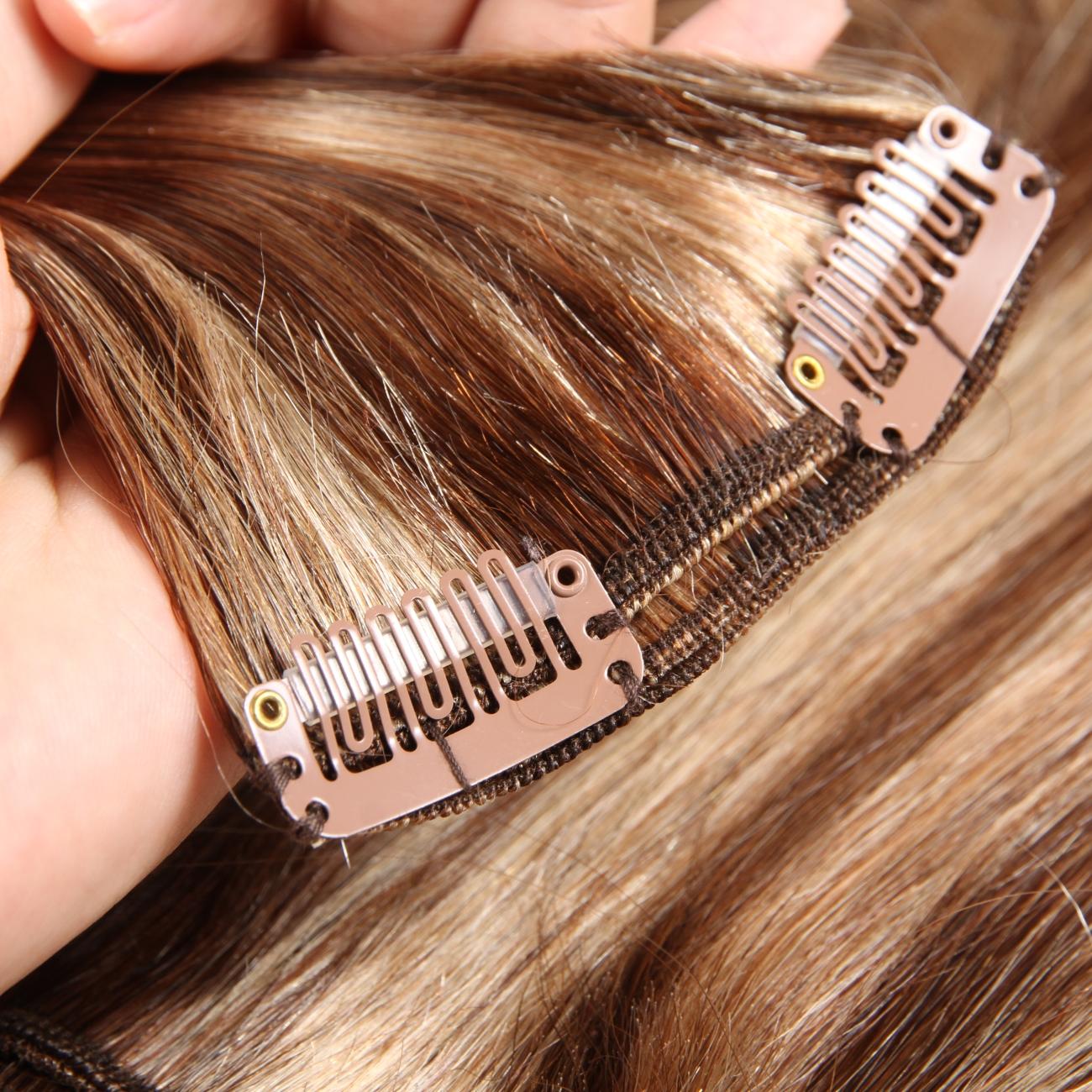 Dark Color Clip In Hair Extensions