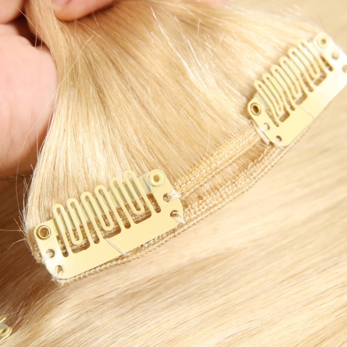 Hair Extensions Human Hair Light Color Clip In Extensions