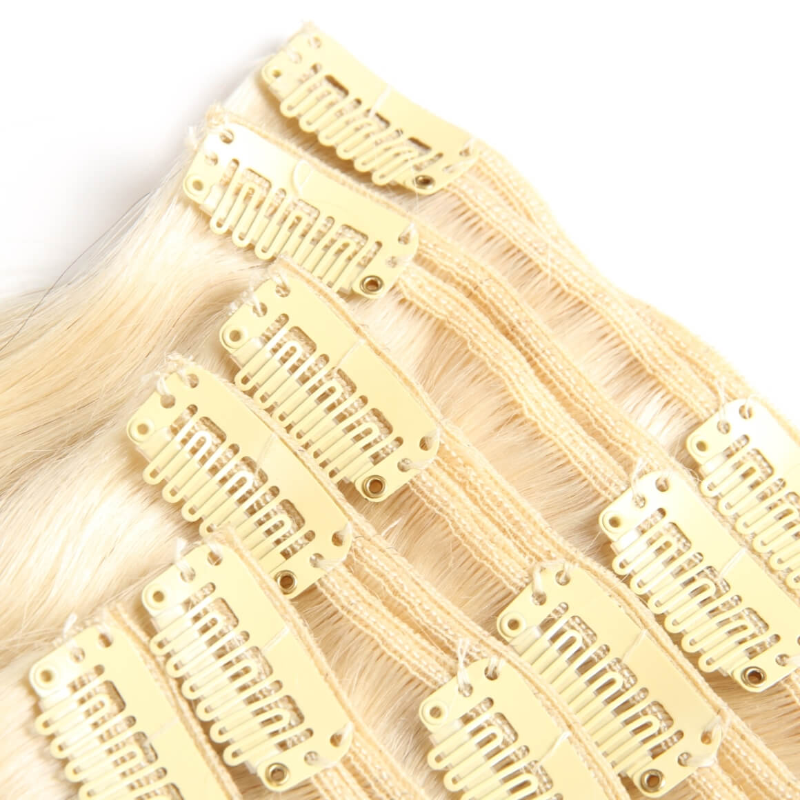 Clip In Hair Human Hair Light Color Clip In Extensions