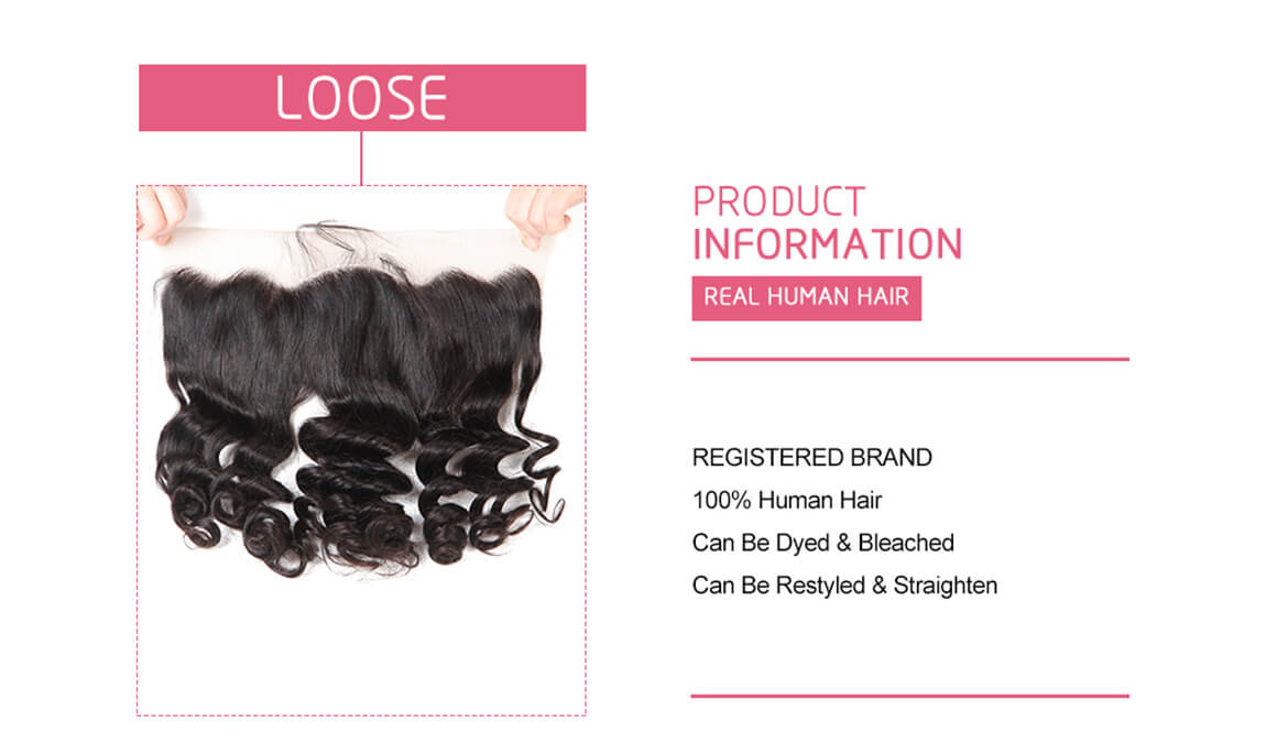 Loose Wave Hair Frontals 13*4 Frontal Lace Closure Human Hairs