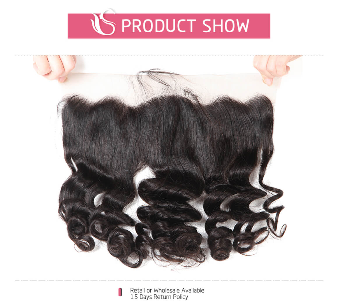 Loose Wave Hair Frontals 13*4 Frontal Lace Closure Hairs For Sale