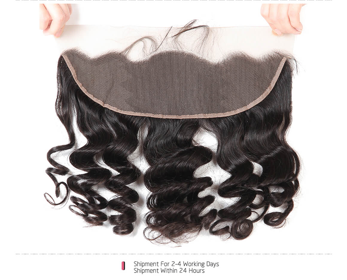Loose Wave Hair Frontals 13*4 Lace Closure Human Hairs For Sale