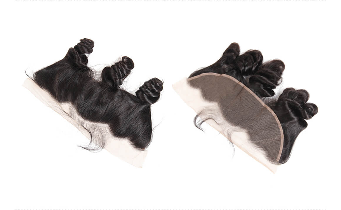 Loose Wave Frontals 13*4 Frontal Lace Closure Human Hairs For Sale